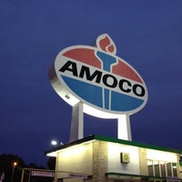 Photo taken at World's Largest Amoco Sign by Andrew L. on 9/15/2012