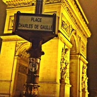 Photo taken at Place Charles de Gaulle by Jill Van V. on 11/18/2012