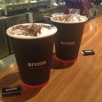 Photo taken at Aroma Espresso Bar by Gazalle on 1/18/2013