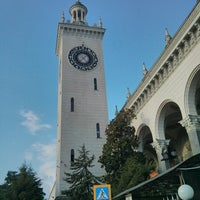 Photo taken at Sochi Railway Station by Tomas Y. on 7/21/2013