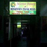 Photo taken at Fakultas Teknik USU by Anggii H. on 10/31/2012