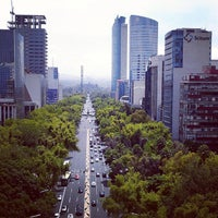 Photo taken at Av. Paseo de la Reforma by Daniel C. on 12/29/2012