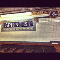 Photo taken at MTA Subway - Spring St (6) by *Bitch Cakes* on 1/7/2014