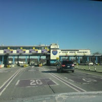 Photo taken at New England Thruway Toll Plaza by Jeff on 12/25/2013