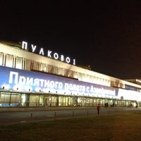 Photo taken at Pulkovo International Airport (LED) by Артем К. on 7/26/2013