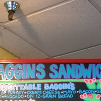 Photo taken at Baggin's Gourmet Sandwiches by Ross D. on 3/2/2013