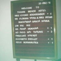 Photo taken at Thande Beach Hotel by Arizola n. on 12/22/2015