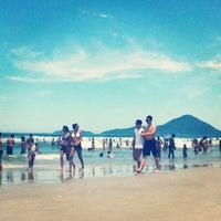 Photo taken at Praia Grande by Karen on 1/25/2013