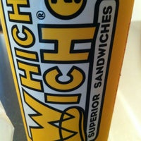 Photo taken at Which Wich? Superior Sandwiches by Jeffrey on 3/18/2013