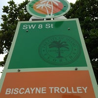 Photo taken at SE 8th St Biscayne Trolley by Mac M. on 9/9/2013