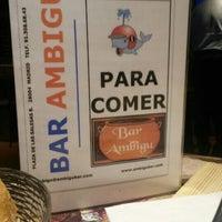 Photo taken at Ambigú Bar by Alfonso Eduardo H. on 2/14/2014