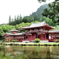 Photo taken at Byodo-In Temple by Bhav on 6/11/2013