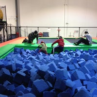 Photo taken at Rebounderz by Mateen on 12/24/2012