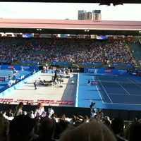 Photo taken at Memorial Drive Tennis Centre by Anneliese P. on 1/8/2013