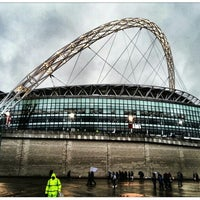 Photo taken at Wembley Stadium by Anthony H. on 4/19/2013