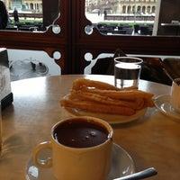 Photo taken at Café Iruña by Guido on 3/16/2013