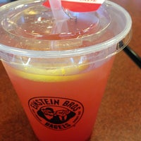 Photo taken at Einstein Bros Bagels by Lisa C. on 6/21/2014