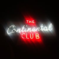 Photo taken at The Continental Club by Ryan M. on 11/28/2012