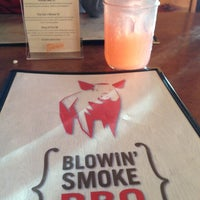 Photo taken at Blowin Smoke BBQ by Sally N. on 1/20/2013