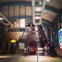 Photo taken at MRT Liuzhangli Station by Chris Y. on 1/18/2013