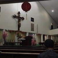 Photo taken at Gereja Hati Yesus yang Maha Kudus by AGUSTINUS R. on 2/5/2017