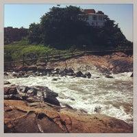 Photo taken at Praia do Sonho by Aline F. on 5/4/2013