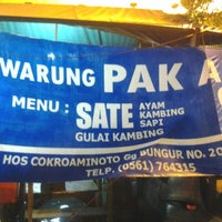Photo taken at Warung Sate Pak Ali by Nurhadi N. on 10/18/2012