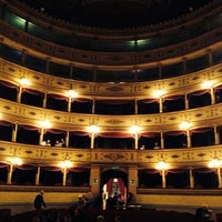 Photo taken at Teatro Sociale di Mantova by Francesco A. on 10/20/2014