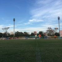 Photo taken at Sports Field by Ykyungkhaw S. on 3/29/2017