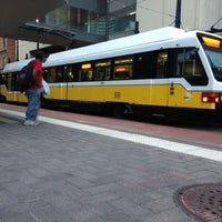 Photo taken at St. Paul Station (DART Rail) by Francisco C. on 10/15/2012