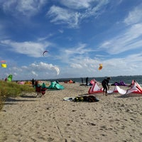 Photo taken at Plumb Beach by Bob D. on 10/28/2017