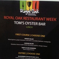 Photo taken at Tom's Oyster Bar by Howard C. on 4/2/2014