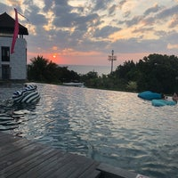 Photo taken at Pullman hotel swim pool by Pearl on 10/4/2018