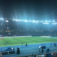 Photo taken at Jaber AlAhmad International Stadium by Abdulmohsen Najem on 2/21/2017
