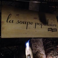 Photo taken at La Soupe Populaire by Chris on 10/12/2013