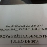 Photo taken at Tok Music - Academia De Música by Camilla B. on 7/3/2013