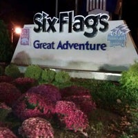 Photo taken at Six Flags Great Adventure by Rowena on 10/20/2012