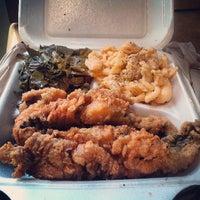 Photo taken at Gigi & Big R Caribbean Soul Food Cart by Rene P. on 8/2/2013