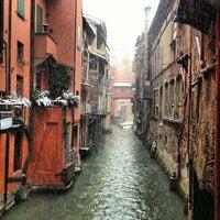 Photo taken at La piccola Venezia - Finestra Sul Reno by Marco A. on 2/23/2013