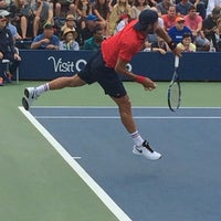 Photo taken at Court 5 - USTA Billie Jean King National Tennis Center by Carolyn on 9/1/2016