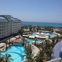 Photo taken at Crystal Admiral Resort Suites & Spa by Çisem on 6/10/2013