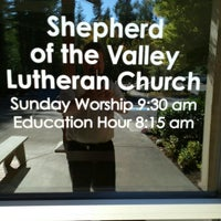 Photo taken at Shepherd of the Valley Lutheran Church (ELCA) by Andy A. on 9/22/2015