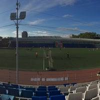Photo taken at Стадион УрФУ by Dima S. on 6/5/2014
