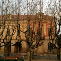 Photo taken at Placa de Joan Fiveller by Alехander G. on 2/1/2014
