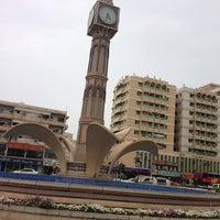 Photo taken at Sharjah Clock Tower by Prem N. on 4/27/2013