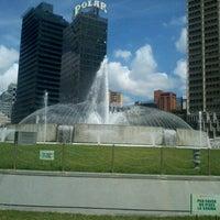 Photo taken at Plaza Venezuela by Sergio O. on 10/1/2012