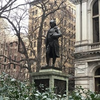 Photo taken at Benjamin Franklin Statue by Jewels N. on 1/28/2017