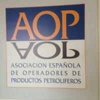 Photo taken at AOP (Asociación Española de Operadores de Productos Petrolíferos) by David G. on 5/16/2013