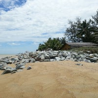 Photo taken at Pantai Cahaya Bulan (PCB) by Diana Y. on 10/5/2013
