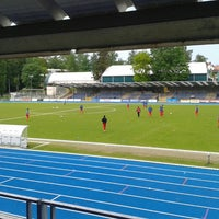 Photo taken at Stade Fallonstadion by Roel S. on 5/19/2013
